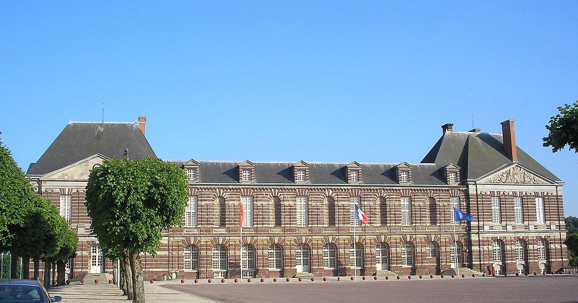 Torigni-sur-Vire (Normandie, France). Le château des Matignon, hôtel de ville.