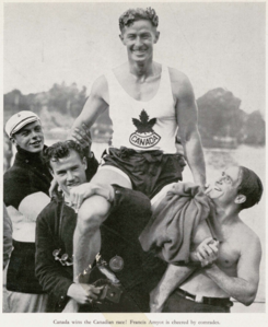 Frances Amyot after winning Canadian Canoe race at 1936 Olympics.png