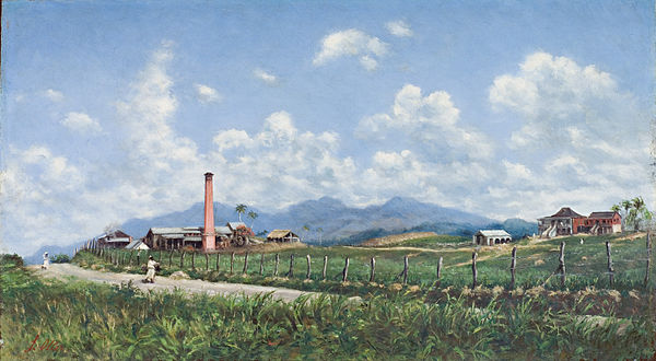 Francisco Oller's depiction of Hacienda Aurora (1899) in Ponce, Puerto Rico Francisco Oller - Hacienda Aurora.jpg
