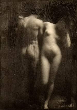 Frank Eugene - Frank Eugene: Adam and Eve, taken 1898, published in Camera Work no. 30, 1910