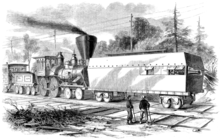 "Photo of a 1861 ""Railroad battery"" used to protect workers during the American Civil War"