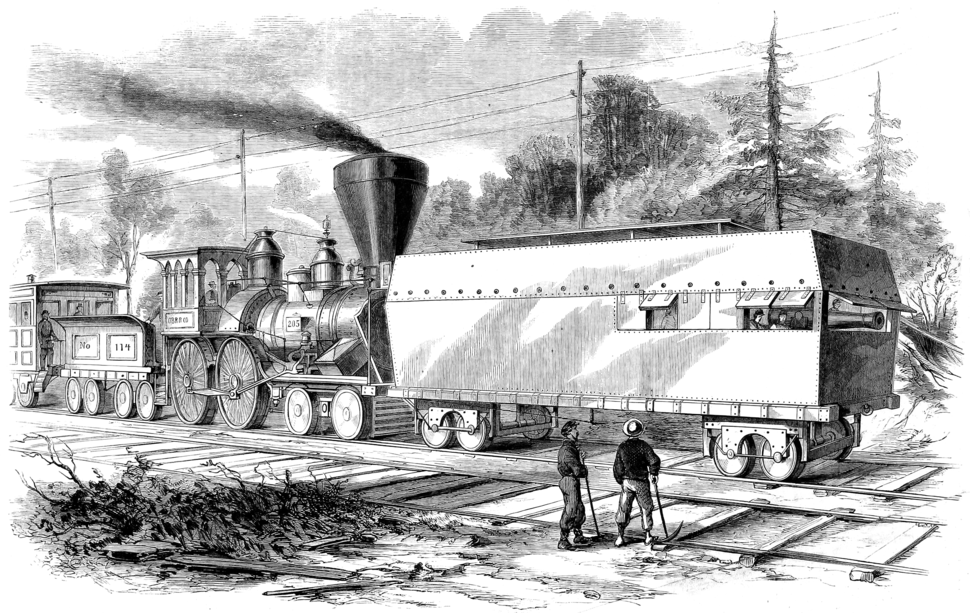 Frank Leslie's Illustrated Newspaper - 18610518 - p1 - Railroad Battery