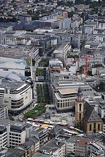 Zeil shopping street in Frankfurt, Germany