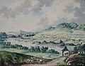 Franz Neuhauser the Younger - Peisaj cu biserică de lemn.jpg