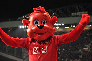 Manchester United F.C. mascots - Fred the Red