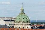 Frederik's Church dome seen from Rundetårn, Copenhagen.jpg