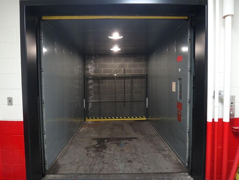 Freight elevator interior