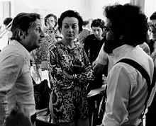 French photographers (from left) Jean-Pierre Sudre, Hélène Théret, Georges Tourdjman, 1975.jpg