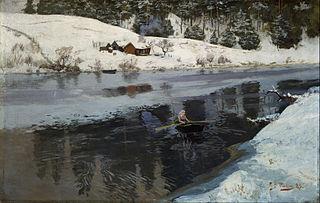 Winter at the River Simoa