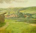 Fritz Steinmetz-Noris - Fränkisches Dörfchen am Fluß.png