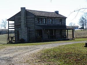 Frohna, Missouri - Image: Frohna, Missouri, Saxon Lutheran Memorial Cabin 1