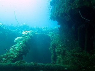 <i>Fujikawa Maru</i> Japanese armed transport ship sunk in Truk lagoon
