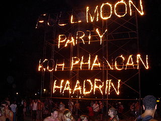 Full Moon Party Beach Party in Thailand
