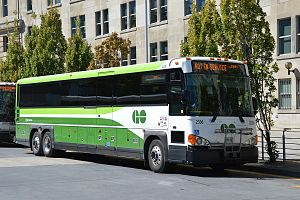 GO Transit bus services - Image: GO Bus 2336 in new green