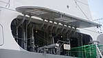 Gangways hatch of JS Fuyuzuki(DD-118) right rear view at JMSDF Maizuru Naval Base July 27, 2014.jpg