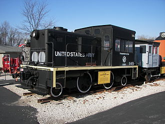 Gas turbine locomotive - A 44-ton 1-B-1 experimental gas turbine locomotive designed by R. Tom Sawyer and built in 1952 for testing by the U.S. Army Transportation Corps