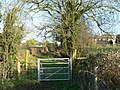 Gate across public footpath. - geograph.org.uk - 316273.jpg
