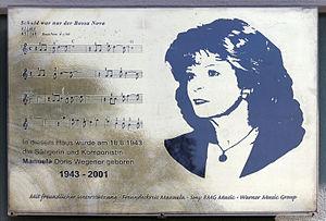 Manuela (singer) - Commemorative plaque at house, Thurneysserstraße 3, in Berlin-Gesundbrunnen
