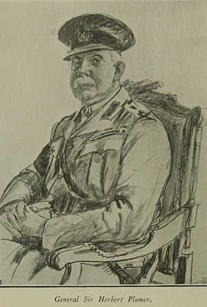 Herbert Plumer, 1st Viscount Plumer - Wartime sketch of General Plumer
