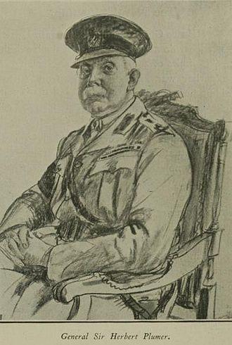 Herbert Plumer, 1st Viscount Plumer - Wartime sketch of General Plumer