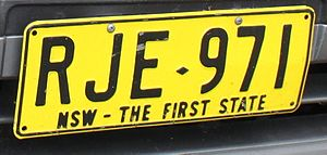 Vehicle registration plates of Australia - NSW – The First State