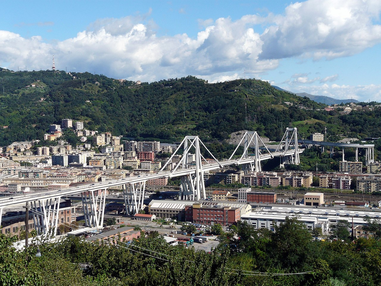 Morandi Bridge, Genoa, Italy