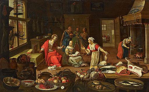 Georg Friedrich Stettner (attr) Christus im Hause der Martha