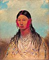 George Catlin - Koon-za-ya-me, Female War Eagle - 1985.66.528 - Smithsonian American Art Museum.jpg