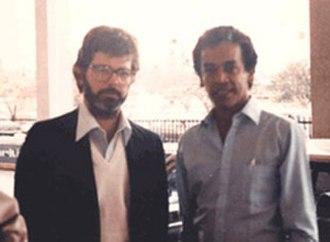 Chandran Rutnam - Image: George Lucas and Chandran Rutnam