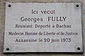 Georges Fully plaque, 25 Quai des Grands Augustins, Paris 6.jpg