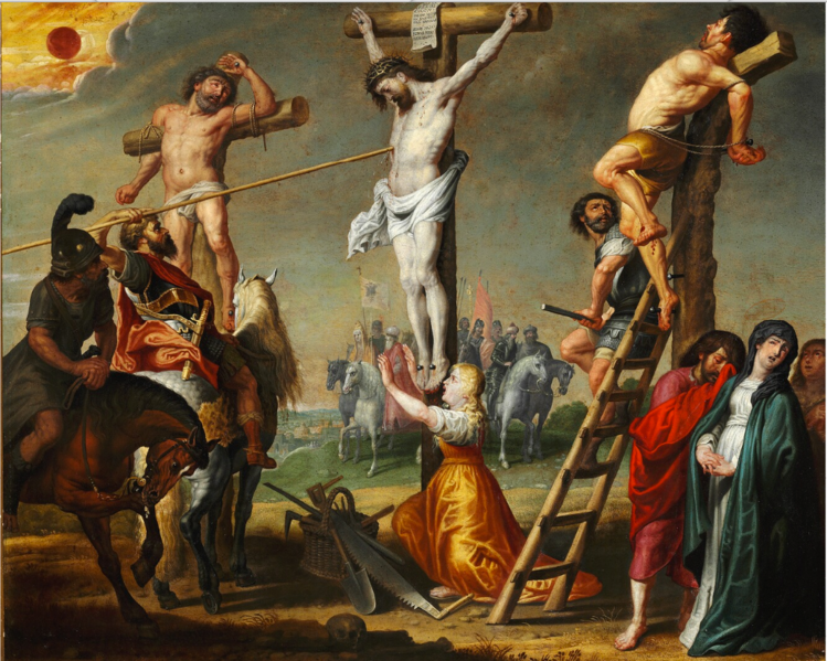 File:Gerard de la Vallee - Longinus piercing Christ's side with a spear.png