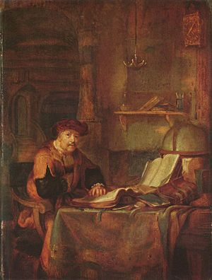 Scholar and his books by Gerbrand van den Eeckhout