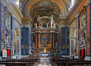 Gesù e Maria, Rome - Interior of nave.