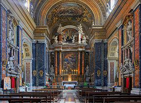 Chiesa di ges e maria roma wikipedia for Corso arredatore d interni roma