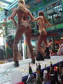Miami Beach, Florida: Girls dancing at Mango's...