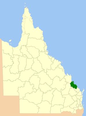 Gladstone Region - Location within Queensland