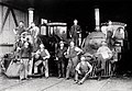 Glenelg Railway Co. employees and locomotives at St Leonard's depot, 1881-1899.jpg