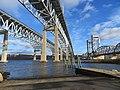 Gold Star Bridge and Amtrak bridge, December 2018.JPG