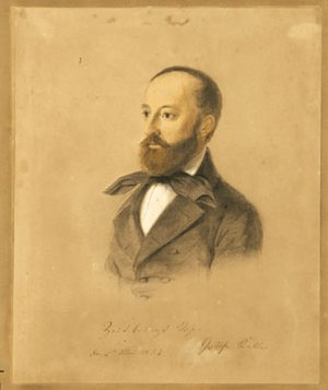 Ludmilla Assing - Portrait of Gottfried Keller by Ludmila Assing