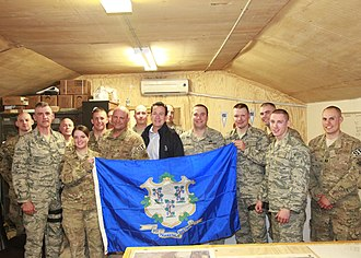 Connecticut Military Department - Governor Dannel Malloy with troops in Afghanistan