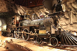 Gov Stanford Locomotive at the California State Railroad Museum 2.JPG