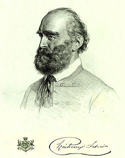 Josef Kriehuber: Széchenyi István portréja, litográfia (1858)