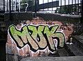 Graffiti, steps to Hawley Lock NW1 - geograph.org.uk - 2006617.jpg