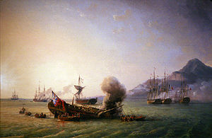 Combat de Grand Port, by Pierre-Julien Gilbert, Musée national de la marine