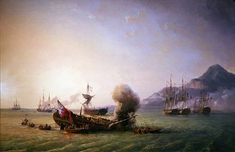 French Navy - The Battle of Grand Port in 1810.