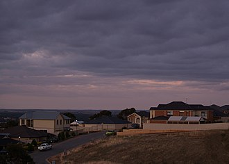 Blakeview, South Australia - Looking into Blakeview from Craigmore Road at twilight