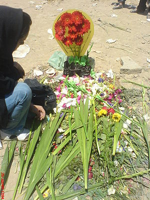 Grave site of Neda Agha-Soltan, shot by Baseej...