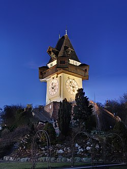 The Grazer Schloßberg Clock Tower