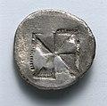 Greece, 5th century BC - Aegineatan Drachm- Incuse Square (reverse) - 1917.989.b - Cleveland Museum of Art.jpg