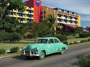 Green 1950 Chevrolet in Varadero, Cuba